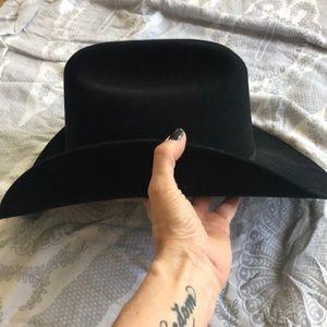AUTHENTIC STETSON BLACK FELT HAT